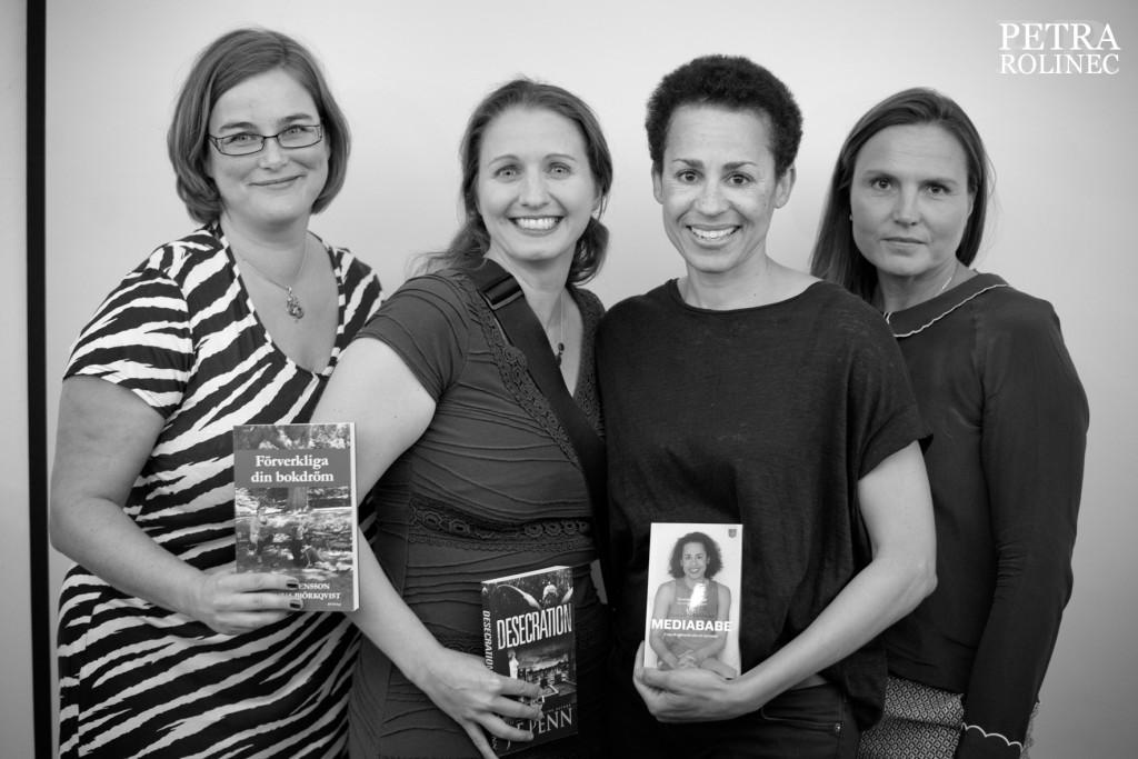 Kristina Svensson, Joanna Penn, Jackie Kothbauer och Alexandra Torstendahl, foto Petra Rolinec